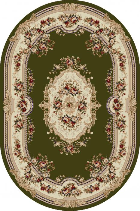 Covor Clasic, Lotos 575, Verde, Oval, 80x150 cm, 1800 gr/mp [0]