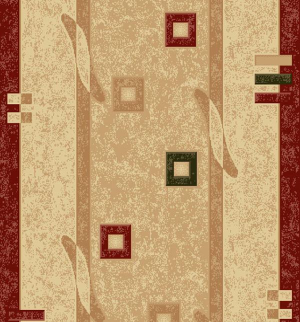 Traversa Covor, Lotos 579, Crem / Rosu, 1800 gr/mp 2