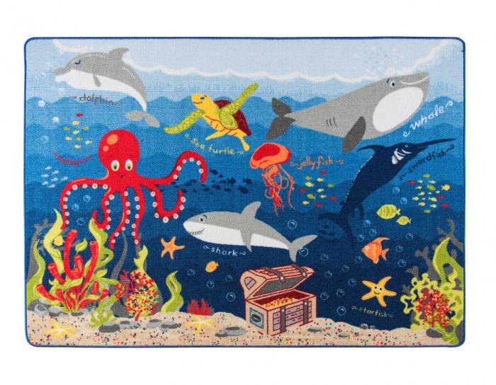 Covor Pentru Copii, Antiderapant, Deep Water, 133x190 cm, 1282 gr/mp [0]