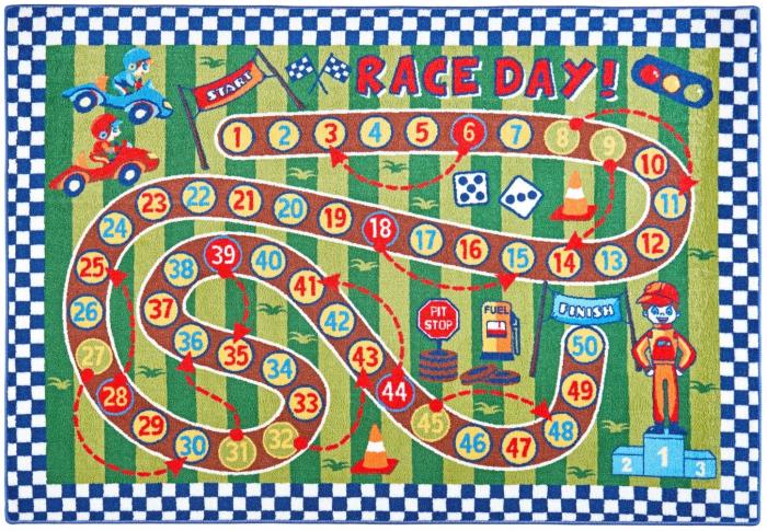 Covor Pentru Copii, Antiderapant, Race Day, Multicolor, 133x190 cm, 1632 gr/mp [0]