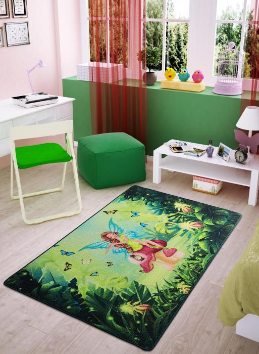 Covor Pentru Copii, Antiderapant, Fairy Song, 100x150 cm, 1275 gr/mp [1]