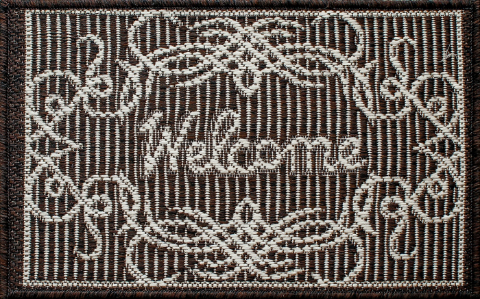 Covor Pentru Usa Intrare, Natura Welcome, 50x80 cm, 1500 gr/mp 1