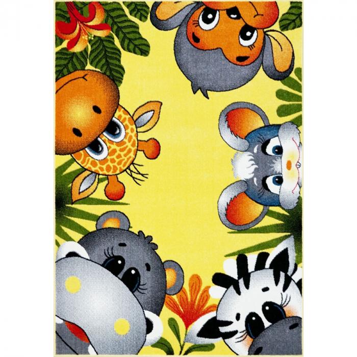 Covor Pentru Copii, Kolibri Animalute 11058, Galben, 240x340 cm, 2300 gr/mp [0]