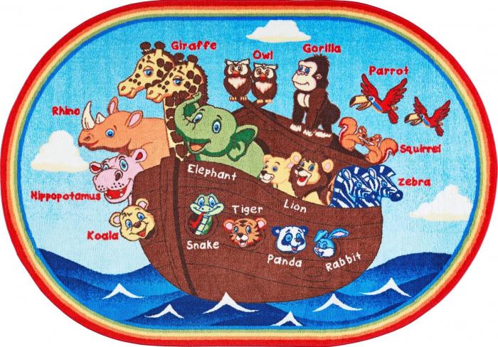 Covor Pentru Copii, Antiderapant, Animal Ship, Multicolor, 133x190 cm, 1632 gr/mp [0]