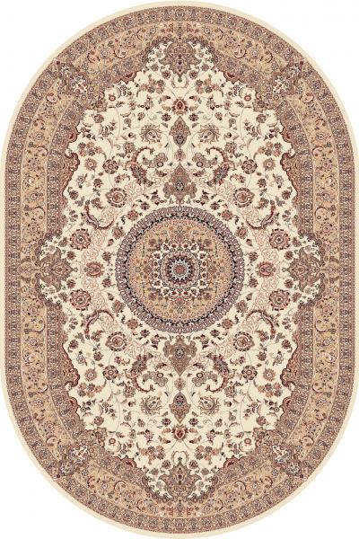 Covor Clasic, Cardinal 25501-100, Bej, Oval, 80x150 cm, 2300 gr/mp 0