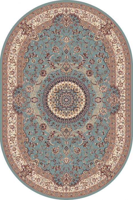 Covor Clasic, Cardinal 25501-410, Bleu, Oval, 100x100 cm, 2100 gr/mp 0