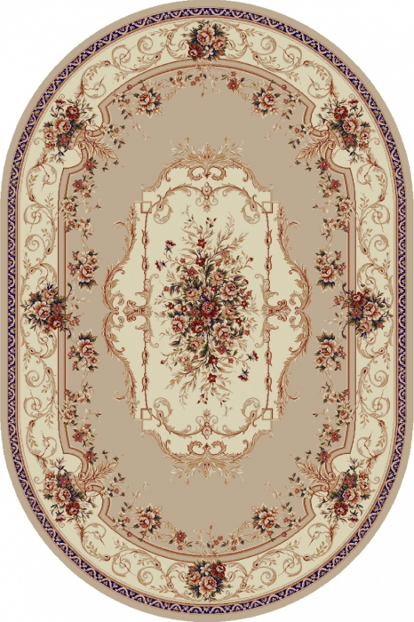 Covor Clasic, Lotos 507, Bej / Crem, Oval, 150x230 cm, 1800 gr/mp 0