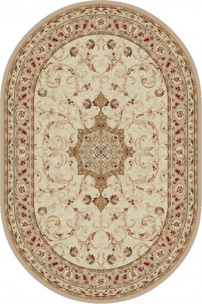 Covor Clasic, Lotos 523, Bej / Crem, Oval, 80x200 cm, 1800 gr/mp 0