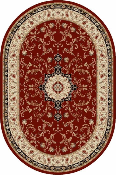 Covor Clasic, Lotos 523, Rosu, Oval, 150x230 cm, 1800 gr/mp 0