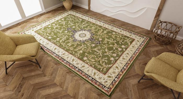 Covor Clasic, Lotos 523, Verde, 100x200 cm, 1800 gr/mp 3