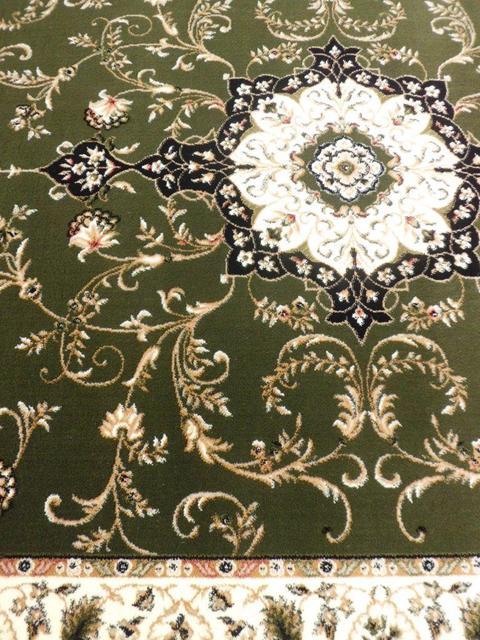 Covor Clasic, Lotos 523, Verde, Oval, 100x200 cm, 1800 gr/mp [1]