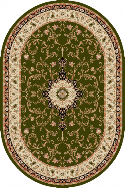 Covor Clasic, Lotos 523, Verde, Oval, 60x110 cm, 1800 gr/mp 0