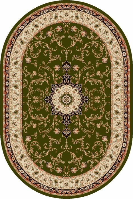 Covor Clasic, Lotos 523, Verde, Oval, 80x150 cm, 1800 gr/mp [0]