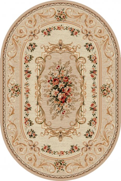 Covor Clasic, Lotos 535, Bej / Crem, Oval, 200x300 cm, 1800 gr/mp 0