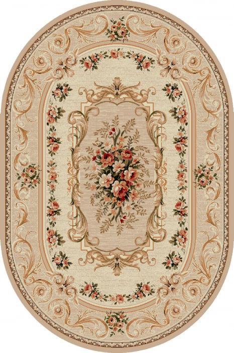 Covor Clasic, Lotos 535, Bej / Crem, Oval, 80x150 cm, 1800 gr/mp 0