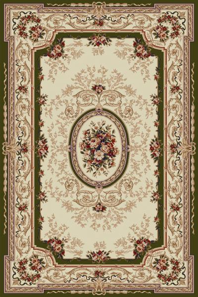 Covor Clasic, Lotos 568, Bej / Verde, 80x150 cm, 1800 gr/mp 0