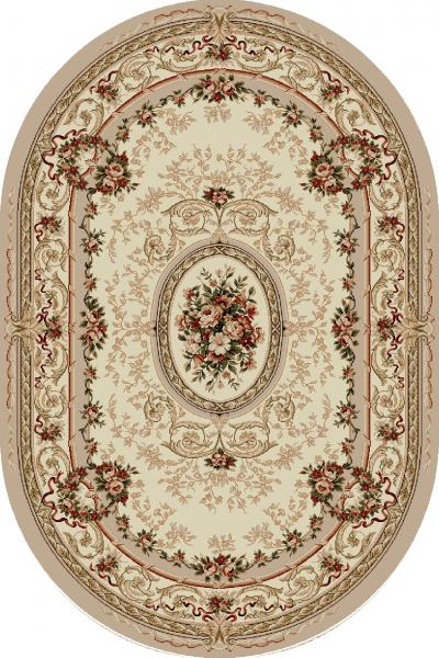 Covor Clasic, Lotos 568, Crem /Bej, Oval, 100x200 cm, 1800 gr/mp 0