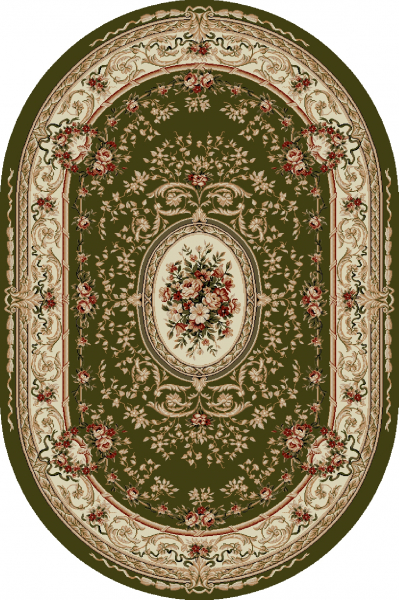 Covor Clasic, Lotos 568, Verde, Oval, 200x300 cm, 1800 gr/mp 0