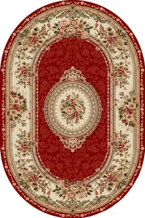 Covor Clasic, Lotos 571, Rosu, Oval, 150x230 cm, 1800 gr/mp 0