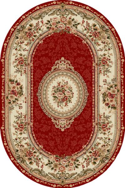 Covor Clasic, Lotos 571, Rosu, Oval, 100x200 cm, 1800 gr/mp 0