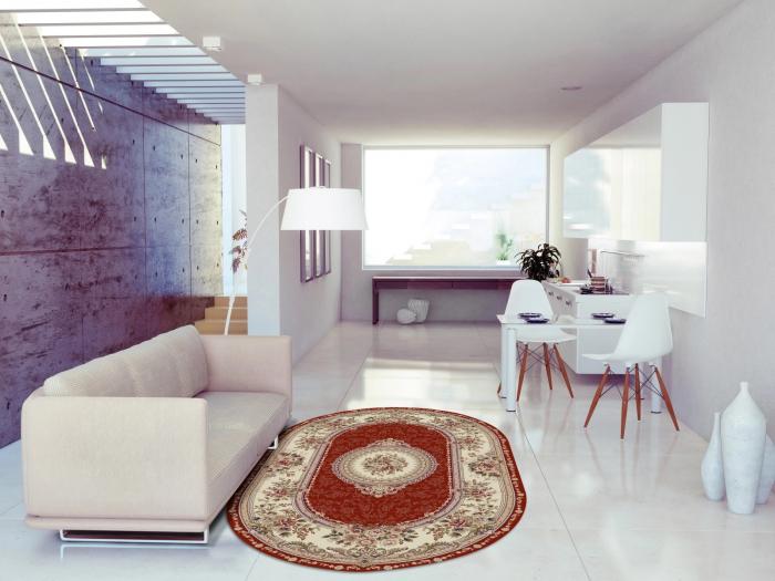 Covor Clasic, Lotos 571, Rosu, Oval, 150x230 cm, 1800 gr/mp 2