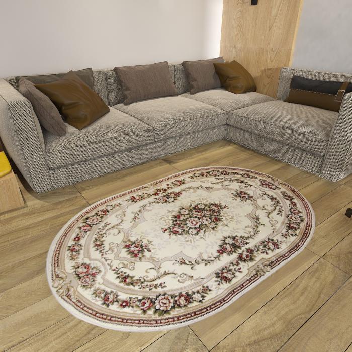 Covor Clasic, Lotos 574, Crem / Bej, Oval, 60x110 cm, 1800 gr/mp [6]