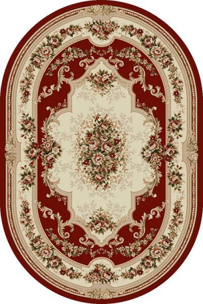 Covor Clasic, Lotos 574, Rosu, Oval, 150x230 cm, 1800 gr/mp [0]