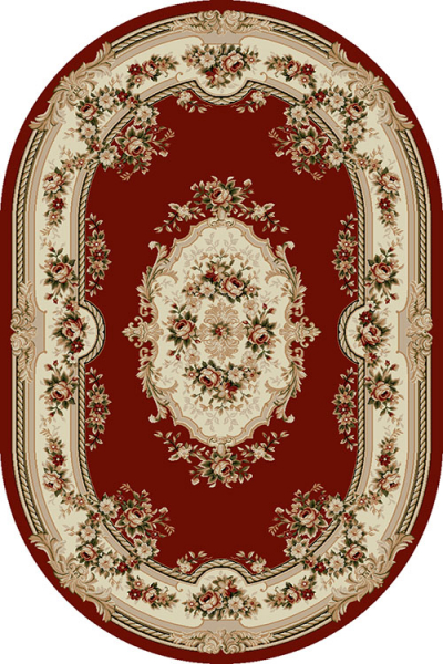 Covor Clasic, Lotos 575, Rosu, Oval, 80x150 cm, 1800 gr/mp 0
