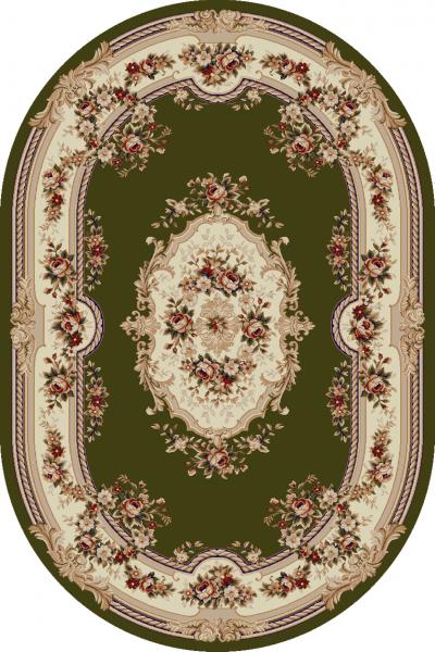 Covor Clasic, Lotos 575, Verde, Oval, 150x230 cm, 1800 gr/mp 0