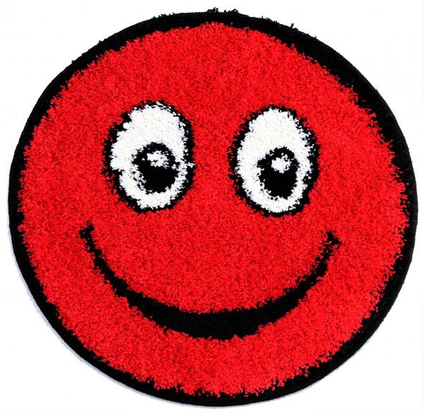 Covor Fantasy Smile, 12003-120, Rotund, Rosu, 67x67 cm [0]