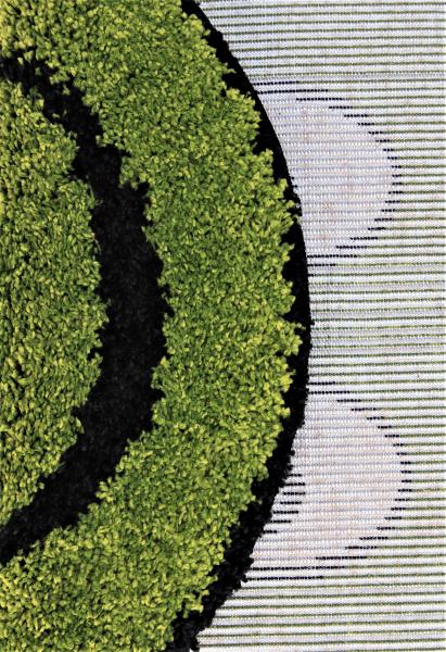 Covor Fantasy Smile, 12003-130, Rotund, Verde, 67x67 cm 2