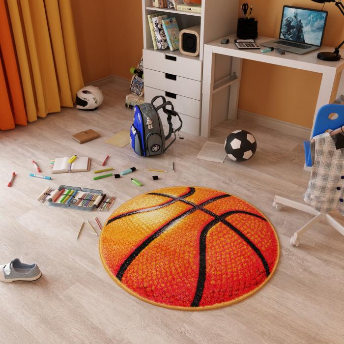 Covor Kolibri, Rotund, Basketball 11189, 67x67 cm, 2300 gr/mp [2]