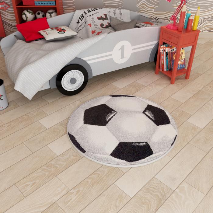 Covor Kolibri, Rotund, Minge Fotbal 01 UEFA 2020, 67x67 cm, 2300 gr/mp [5]