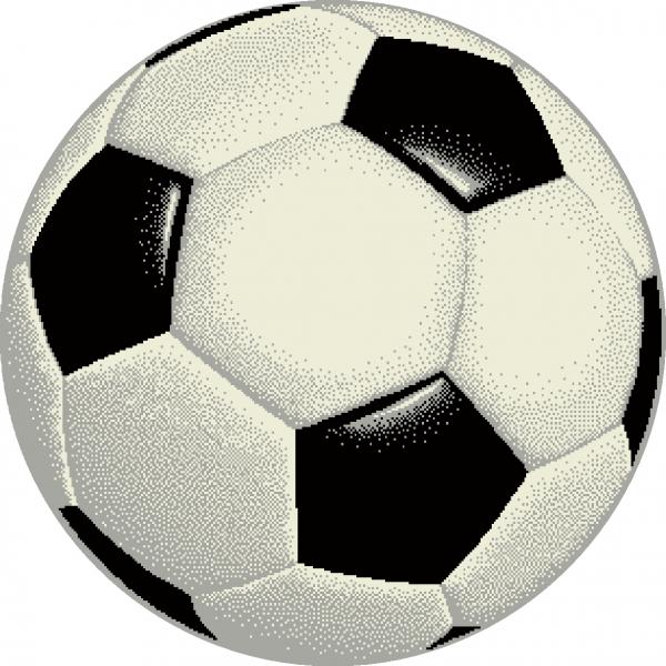 Covor Kolibri, Rotund, Minge Fotbal 01 UEFA 2020, 67x67 cm, 2300 gr/mp [0]