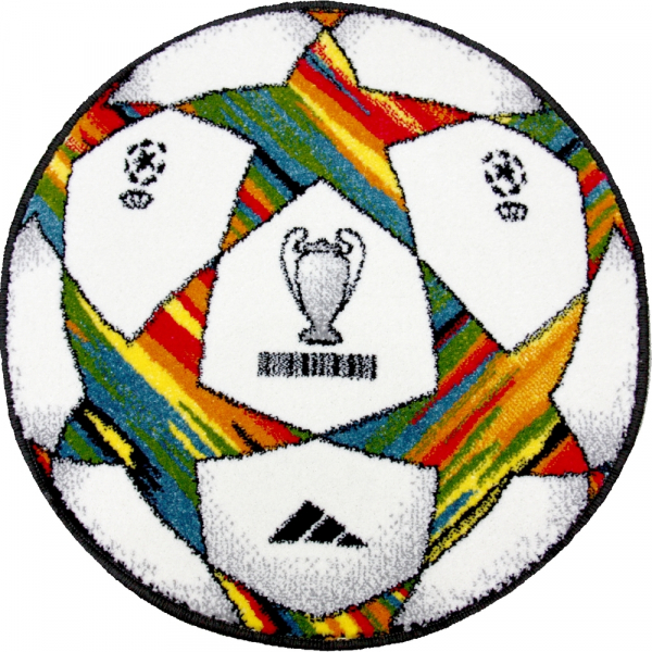 Covor Kolibri, Rotund, Minge Fotbal UEFA 2020, 67x67 cm, 2300 gr/mp 0