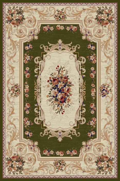 Covor Lotos 535, Verde, 60x110 cm, 1800 gr/mp [0]