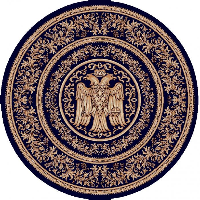 Covor Lotos, Model Bisericesc, 15032, Albastru, Rotund, 150x150 cm, 1800 gr/mp 0