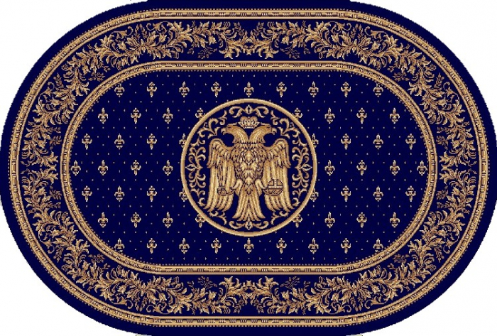 Covor Lotos, Model Bisericesc, 15032, Oval, Albastru, 250x350 cm, 1800 gr/mp 0
