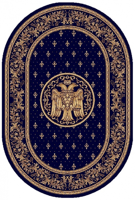 Covor Lotos, Model Bisericesc, 15032-V, Oval, Albastru, 150x230 cm, 1800 gr/mp [0]