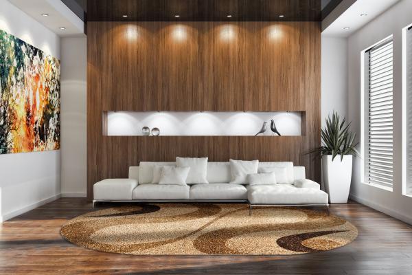 Covor Modern, Fantasy 12506-11, Bej, Oval, 120x170 cm, 2550 gr/mp 1