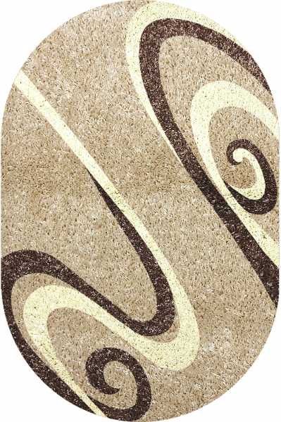 Covor Modern, Fantasy 12517, Bej, Oval, 120x170 cm, 2550 gr/mp 0