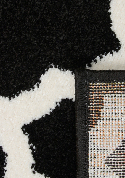 Covor Modern, Kolibri 11158-180, Alb / Negru, 80x150 cm, 2300 gr/mp [3]