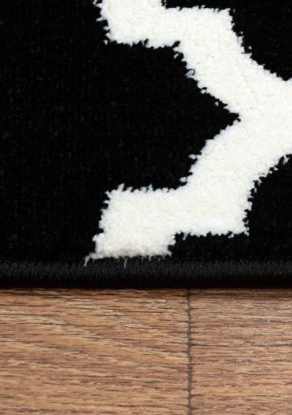 Covor Modern, Kolibri 11158-180, Alb / Negru, 80x150 cm, 2300 gr/mp [4]