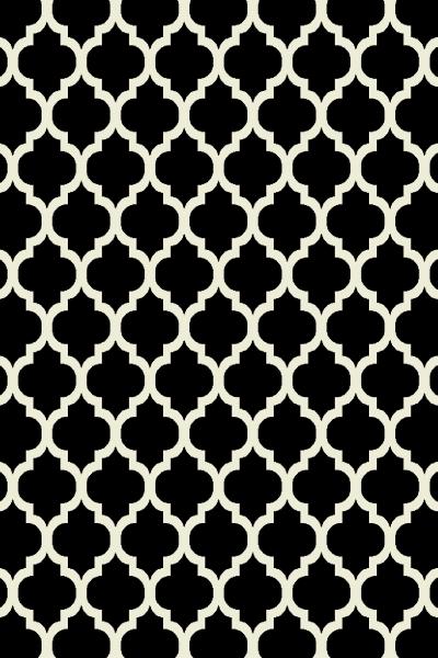 Covor Modern, Kolibri 11158-180, Alb / Negru, 80x150 cm, 2300 gr/mp [0]