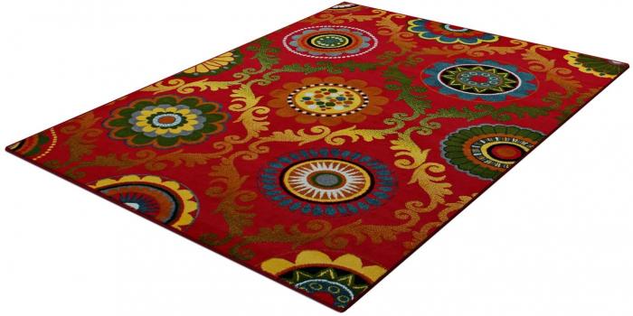 Covor Modern, Kolibri Baroque, Rosu, 160x230 cm, 2300 gr/mp [1]