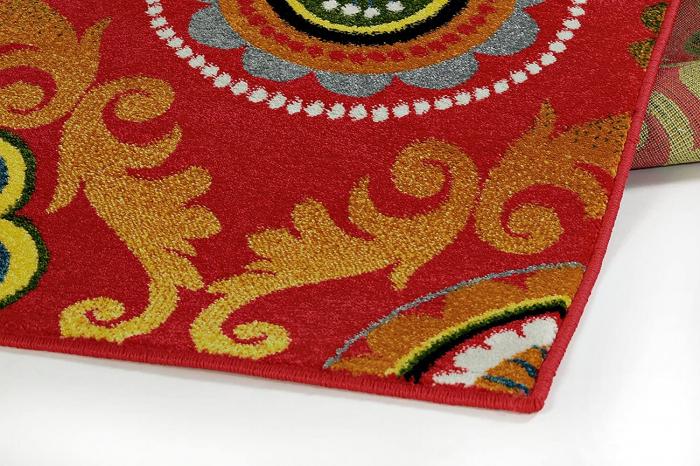 Covor Modern, Kolibri Baroque, Rosu, 80x150 cm, 2300 gr/mp 3