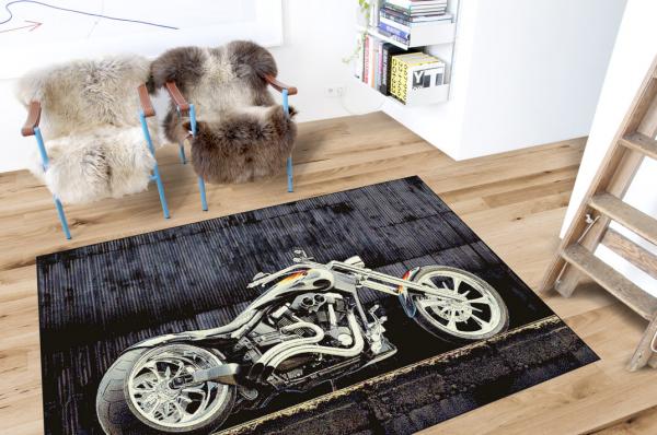 Covor Modern, Kolibri Motocicleta 11185, Multicolor, 120x170 cm, 2300 gr/mp 1