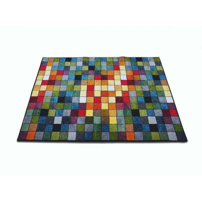 Covor Kolibri Patratele 11161-130, Multicolor, 80x150 cm, 2300 gr/mp 2