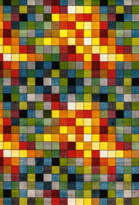 Covor Kolibri Patratele 11161-130, Multicolor, 80x150 cm, 2300 gr/mp 0