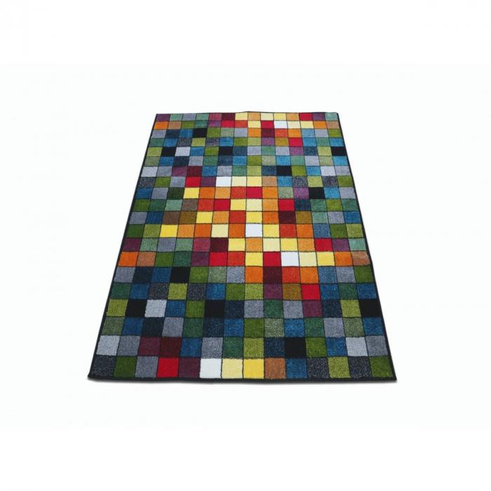 Covor Kolibri Patratele 11161-130, Multicolor, 80x150 cm, 2300 gr/mp 1